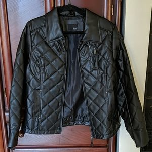 Pleather (polyester) jacket. Excellent condition.